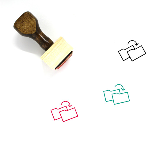 Folder Switch Wooden Rubber Stamp No. 1