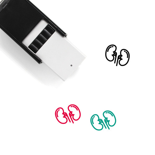 Kidney Self-Inking Rubber Stamp No. 37