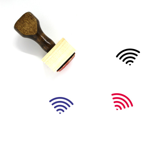 Wifi Wooden Rubber Stamp No. 165