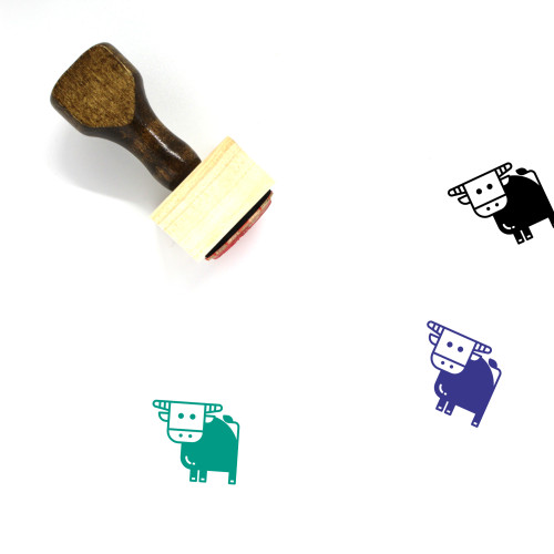 Buffalo Wooden Rubber Stamp No. 35