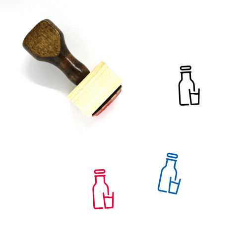 Bottle Of Milk Wooden Rubber Stamp No. 5