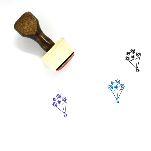 Bouquet Wooden Rubber Stamp No. 41