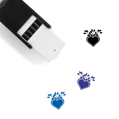Love Flower Self-Inking Rubber Stamp No. 37