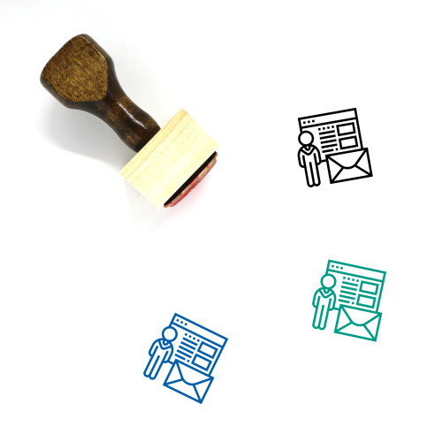 Recruiter Wooden Rubber Stamp No. 4