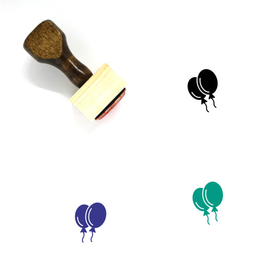 Balloons Wooden Rubber Stamp No. 86
