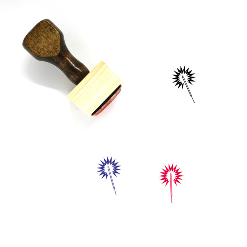 Sparkler Wooden Rubber Stamp No. 69