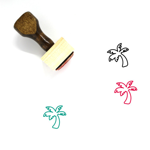 Coconut Tree Wooden Rubber Stamp No. 56