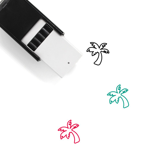 Coconut Tree Self-Inking Rubber Stamp No. 56