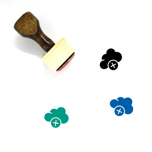 Add To Cloud Wooden Rubber Stamp No. 22