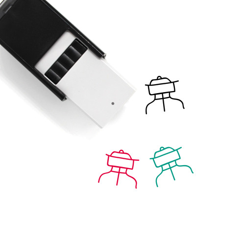 Grill Self-Inking Rubber Stamp No. 64