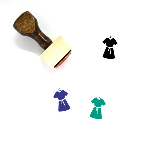 Dress Wooden Rubber Stamp No. 291