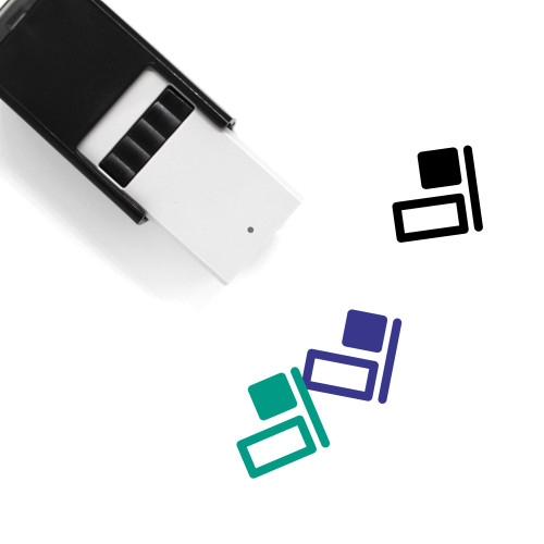 Horizontal Align Right Self-Inking Rubber Stamp No. 2