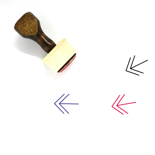 Left Arrows Wooden Rubber Stamp No. 18
