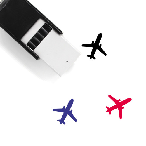 Airplane Self-Inking Rubber Stamp No. 364