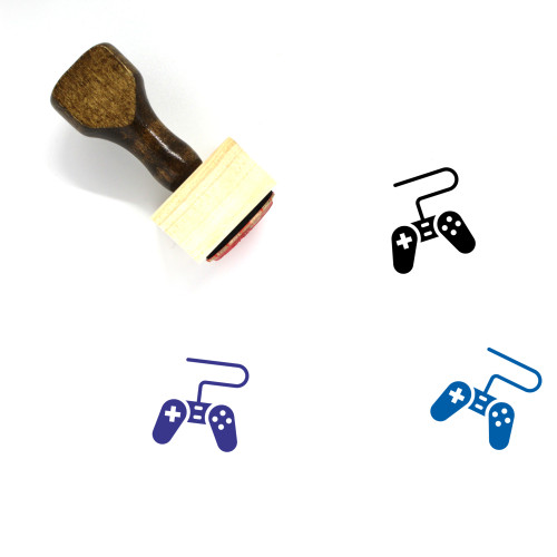 Gamepad Wooden Rubber Stamp No. 71