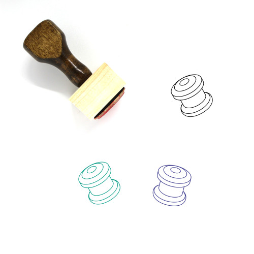 Bicycle Headsets Wooden Rubber Stamp No. 1