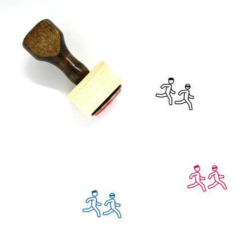 CHASING Wooden Rubber Stamp No. 1