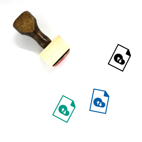 Cloud File Wooden Rubber Stamp No. 35