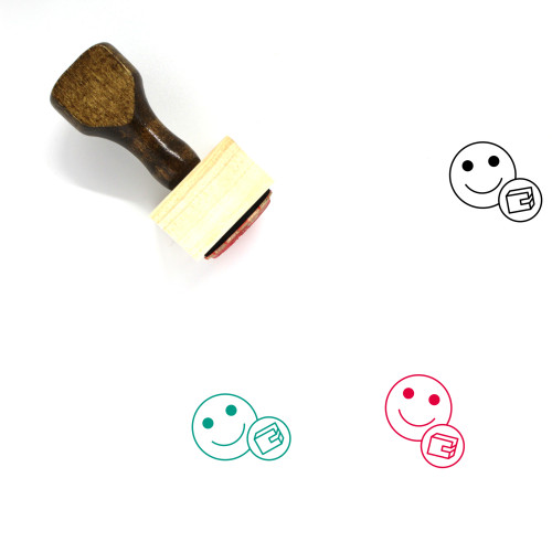 Wallet Wooden Rubber Stamp No. 193