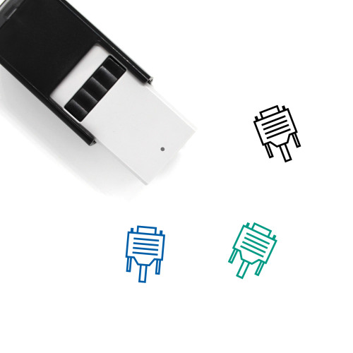 VGA Cable Self-Inking Rubber Stamp No. 12