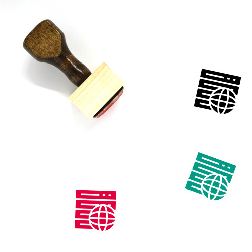 Global Wooden Rubber Stamp No. 163