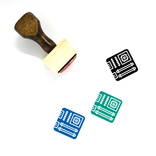 Motherboard Wooden Rubber Stamp No. 37