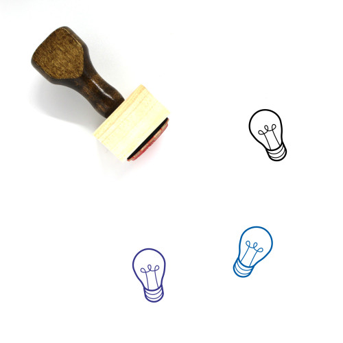 Light Bulb Wooden Rubber Stamp No. 391