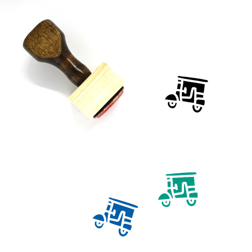Tuk Tuk Wooden Rubber Stamp No. 8