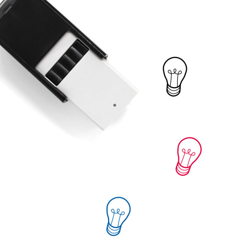 Light Bulb Self-Inking Rubber Stamp No. 391