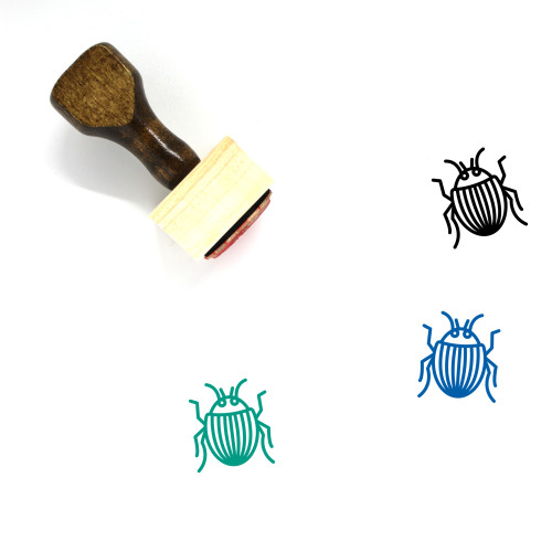 Beetle Wooden Rubber Stamp No. 22