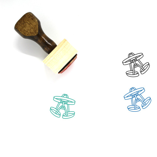 Climbing Safety Harness Wooden Rubber Stamp No. 1