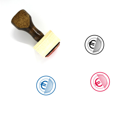 Euro Coin Wooden Rubber Stamp No. 38