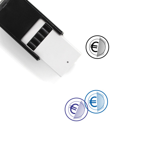 Euro Coin Self-Inking Rubber Stamp No. 38