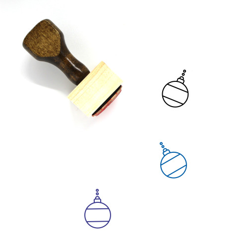 Christmas Bauble Wooden Rubber Stamp No. 40