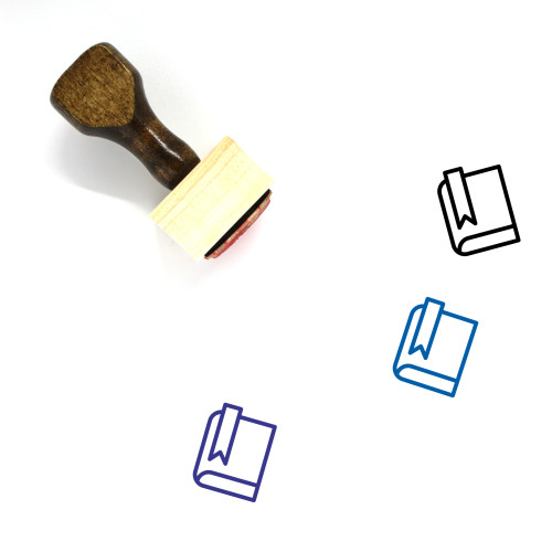 Book Mark Wooden Rubber Stamp No. 32