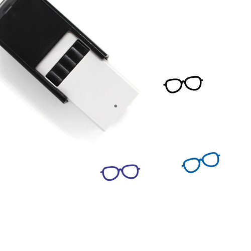 Glasses Self-Inking Rubber Stamp No. 300