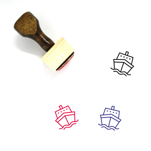 Shipping Wooden Rubber Stamp No. 37