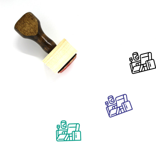 First Class Wooden Rubber Stamp No. 5