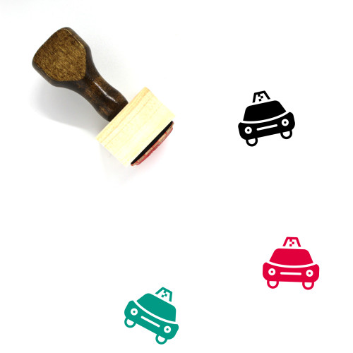 Taxi Wooden Rubber Stamp No. 59