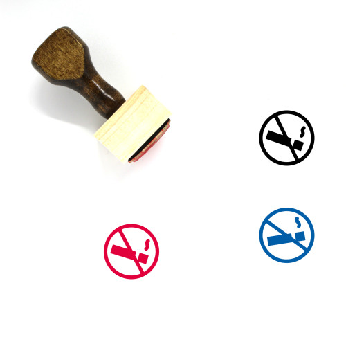 No Smoking Wooden Rubber Stamp No. 55