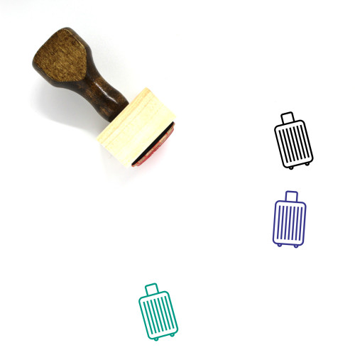 Luggage Wooden Rubber Stamp No. 147