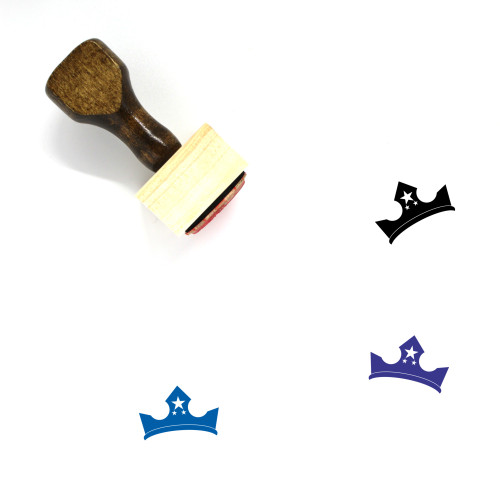Crown Wooden Rubber Stamp No. 1147