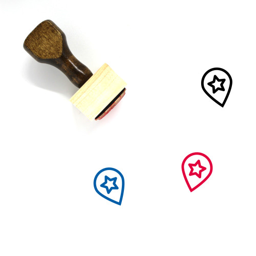 Location Favourite Wooden Rubber Stamp No. 15