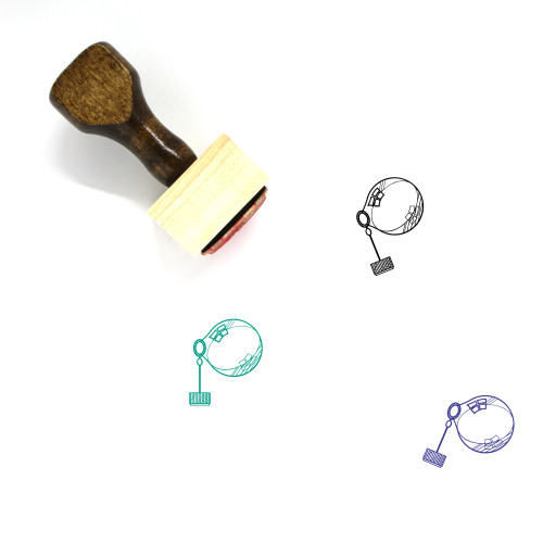 Bubble Wand Cap Wooden Rubber Stamp No. 2