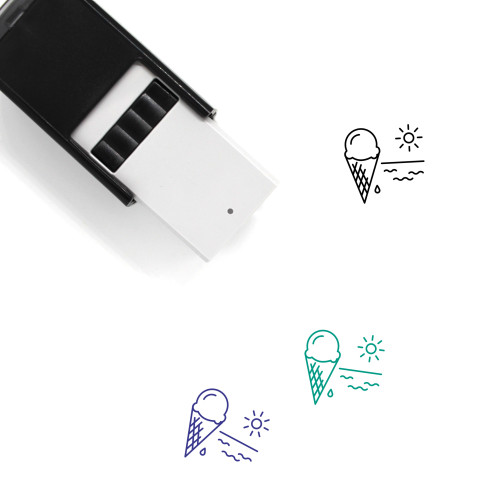 Summer Treat Self-Inking Rubber Stamp No. 1