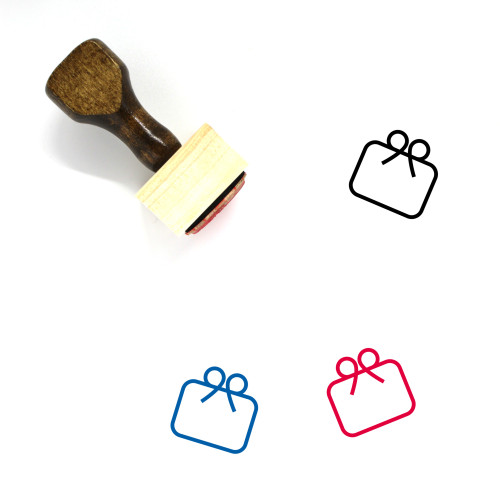 Gift Card Wooden Rubber Stamp No. 44