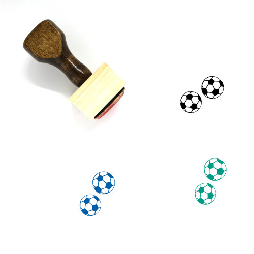 Ball Wooden Rubber Stamp No. 184