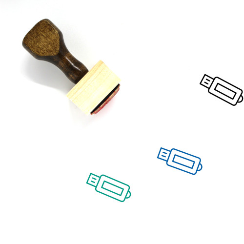 USB Wooden Rubber Stamp No. 88