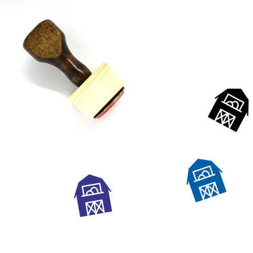 Barn Wooden Rubber Stamp No. 41