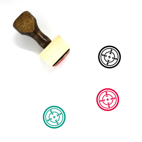 Aim Wooden Rubber Stamp No. 84